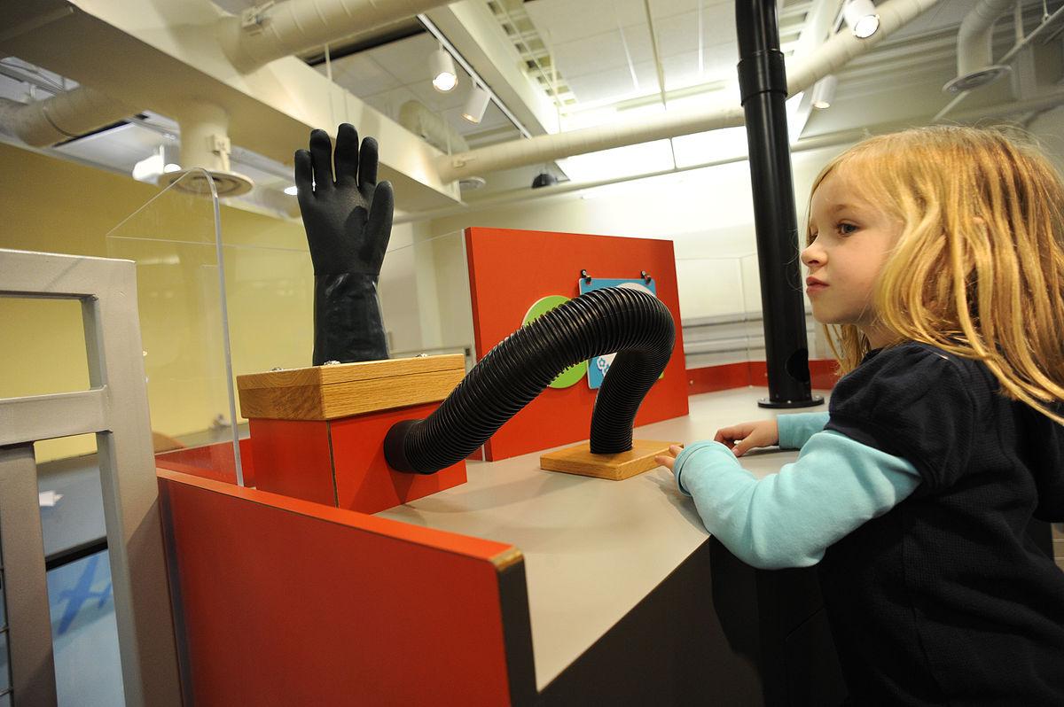 Image of a child exploring Glazer children's museum