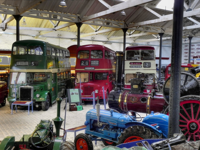 Image of the inside of Bury Transport Museum